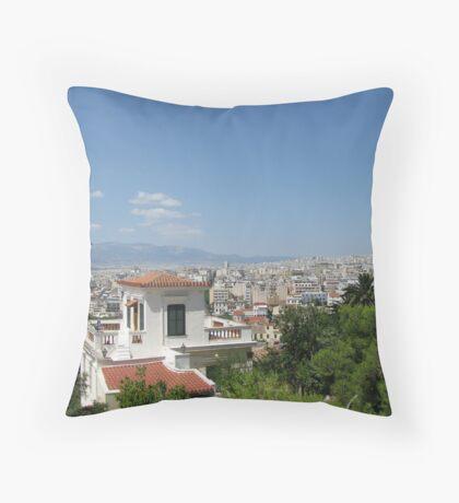 Summer Athens, Greece photography Throw Pillow