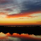 RED SKY AT NIGHT SAILOR'S DELIGHT by Irvin Le Blanc