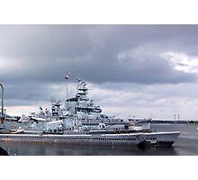USS Massachusetts and the USS Lionfish Photographic Print