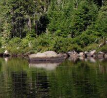 a sprawling Canada landscape Sticker