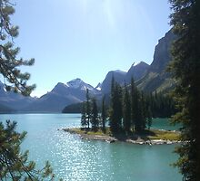Spirit Island, Rockies, Canada by Julie Lunan