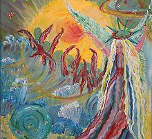 Halo Angel Choir 16x20 acrylic on canvas  by eoconnor