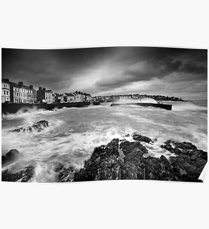 Rough Sea at Bangor Poster