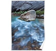 Rock and Water Designs, Zion National Park, Utah Poster