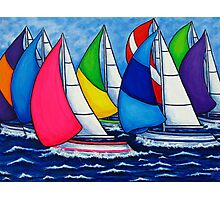 Colourful Regatta Photographic Print