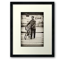 A Crossroads and A Bike- Modern China Framed Print