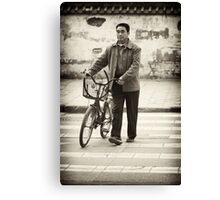 A Crossroads and A Bike- Modern China Canvas Print