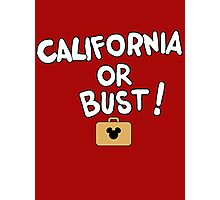 California or Bust! Photographic Print