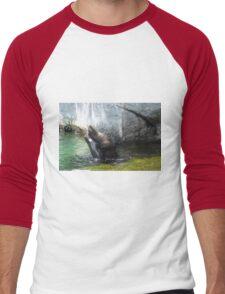 seal wrestling Men's Baseball ¾ T-Shirt