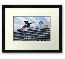 Cruise Ship Holiday Framed Print