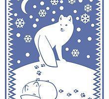 Arctic Foxes by Alice in Underland