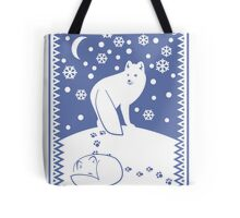 Arctic Foxes Tote Bag