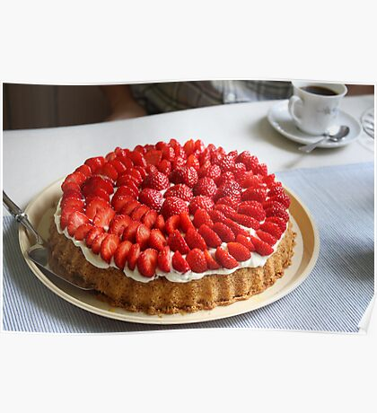 Happiness is Strawberry Cake Poster