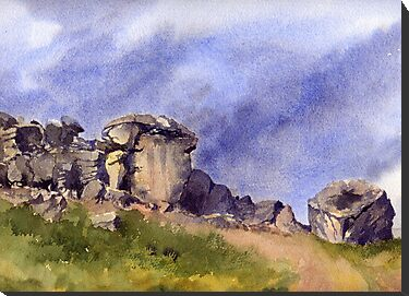 Cow and Calf Rocks, Ilkley Moor by artbyrachel