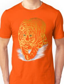 Golden Snow Tiger Unisex T-Shirt