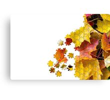 Autumn leaves puzzle-look image Canvas Print