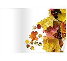 Autumn leaves puzzle-look image Poster