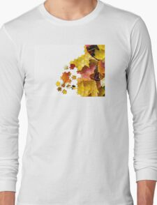 Autumn leaves puzzle-look image Long Sleeve T-Shirt