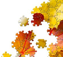 Autumn leaves puzzle-look image Sticker
