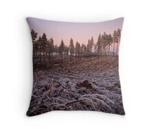 Frosty Clearing at dusk Throw Pillow