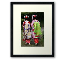 Geisha Dress Up Framed Print