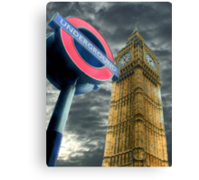 The Tube - Westminster  Canvas Print