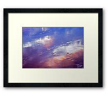 wet sand... Framed Print