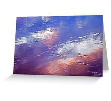 wet sand... Greeting Card