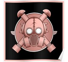 Art Deco Gasmask Pink II Poster