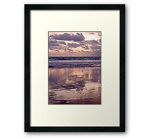 beach reflections... Framed Print