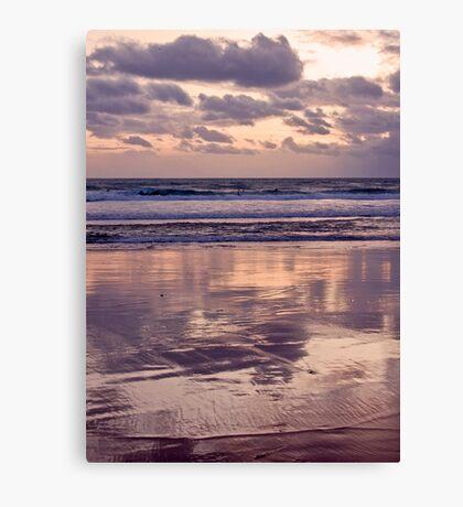 beach reflections... Canvas Print
