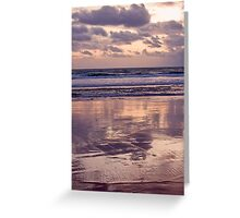 beach reflections... Greeting Card
