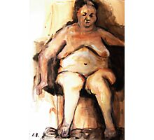 Fatlady - ink on paper Photographic Print