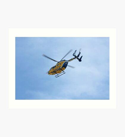 Life Flight Helicopter Art Print