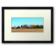 Harvest Ends Framed Print