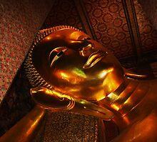 Reclining Buddha 1, Bangkok, Thailand by RIYAZ POCKETWALA