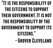 Grover Cleveland Quote by GiftIdea