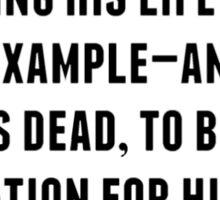 William McKinley Quote Sticker