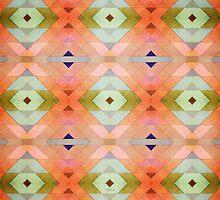 Decorative Textural Orange Pattern by Phil Perkins