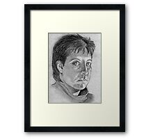 Woman Self Portrait Drawing Framed Print