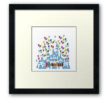 Vintage Disneyland Castle and Balloons Framed Print