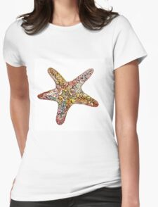 Creative watercolor starfish Womens Fitted T-Shirt