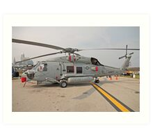 SH-60 Seahawk Helicopter Art Print