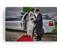 Arrival of the Bride Canvas Print