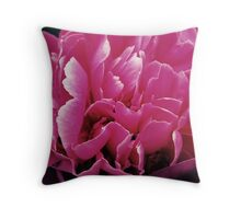 Acid Washed Peony  Throw Pillow