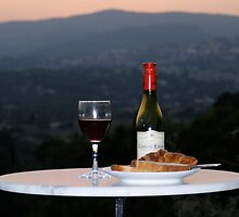 Romantic French Dinning - Southern France 1/2 by Ben Elmy