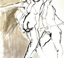 Movement - quick drawings of moving nude by Lorry666