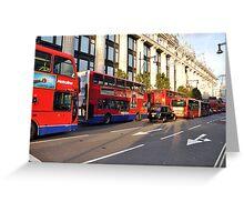 Oxford Street, London Greeting Card