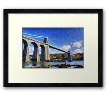 Menai Susupension Bridge Framed Print