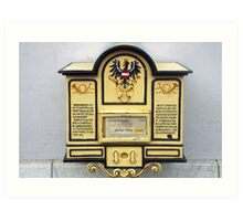 Old Austrian postbox Art Print